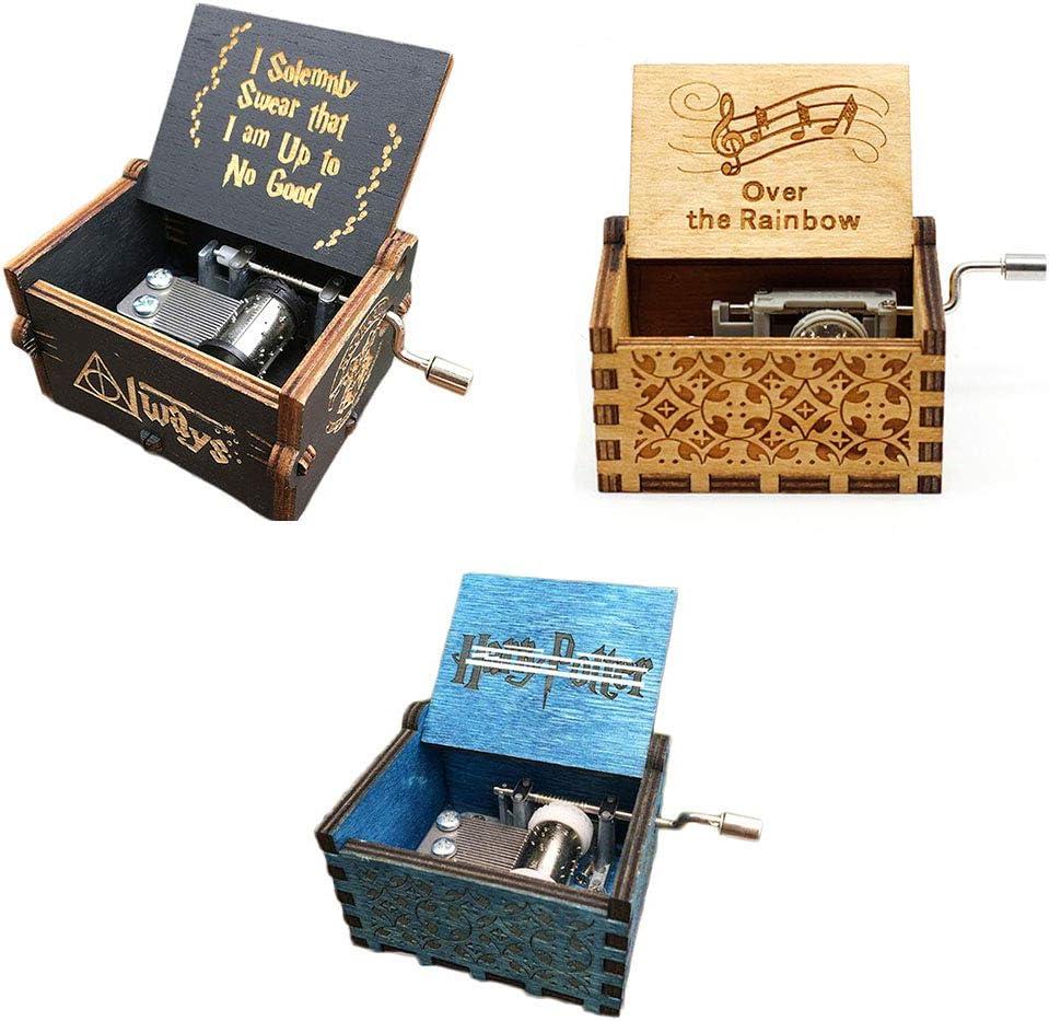 Carillon Vintage con 18 Note incise a Mano belupai Idea Regalo per Compleanno//Natale//San Valentino Frozen in Legno Anticato Intagliato a Mano
