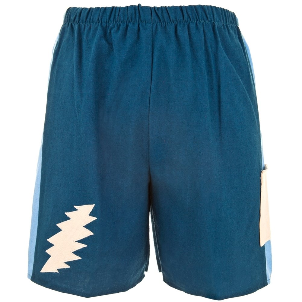 Grateful Dead Lightning Bolt Cobalt Toddler Shorts