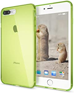 NALIA Case Compatible with iPhone 8 Plus / 7 Plus, Ultra-Thin Clear Silicone Back Cover Shock-Proof See Through Protector, Flexible Protective Slim-Fit Gel Bumper Smart-Phone Skin Etui - Green