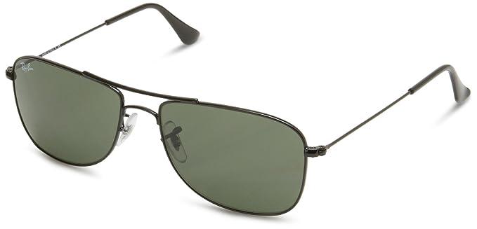 Ray-Ban Gafas de sol Para Hombre RB3477-002: Negro brillante - 59mm