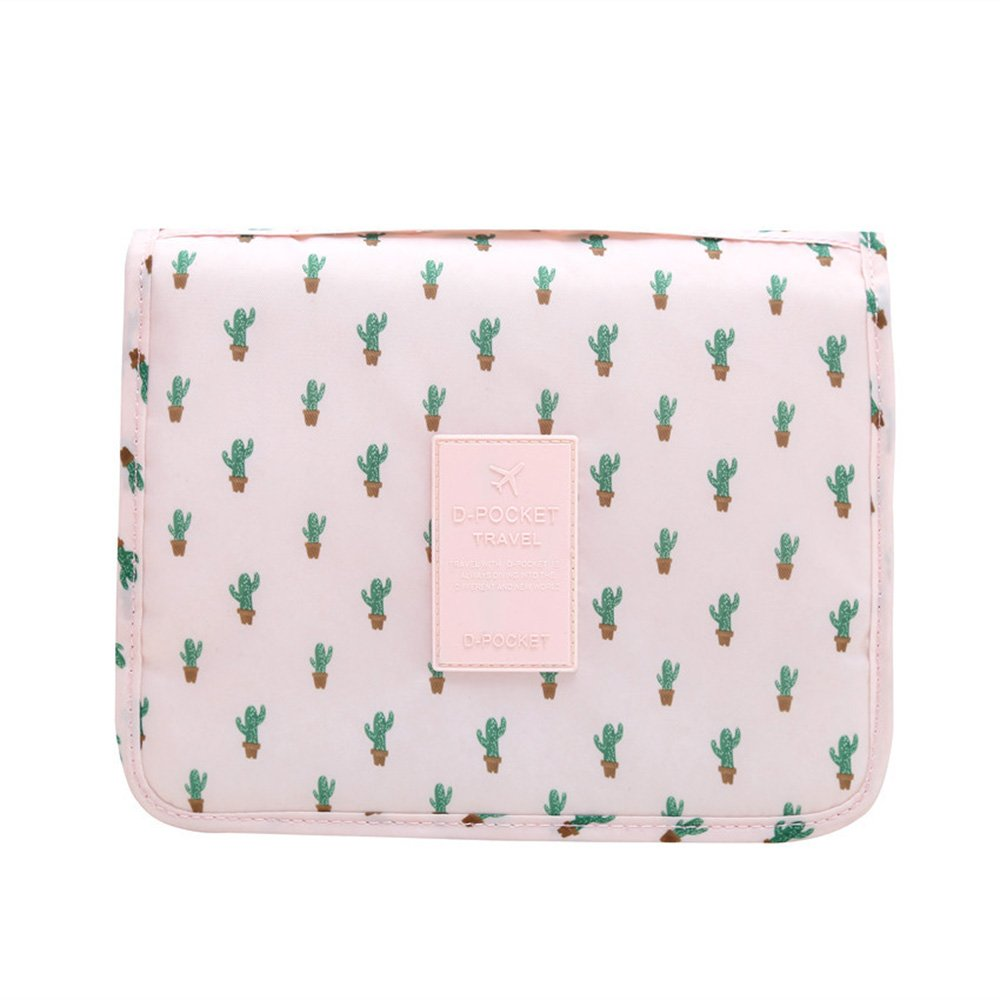 221afe8e63 Hanging Toiletry bag Portable Overnight Wash Bag Cosmetic Organizer for  Women and kids with Multi Pockets(Cactus)  Amazon.co.uk  Luggage
