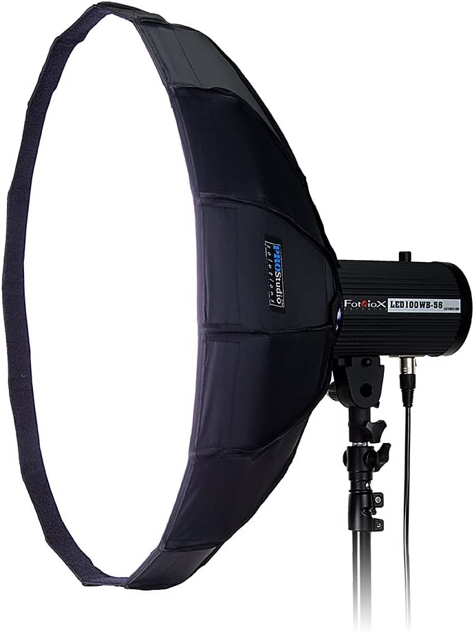 Flash and Monolights Soft Collapsible Beauty Dish with Speedring for Bayonet Mountable Strobe Beauty Dish and Softbox Combination w//Quantum Speedring 80cm Pro Studio Solutions EZ-Pro 32in
