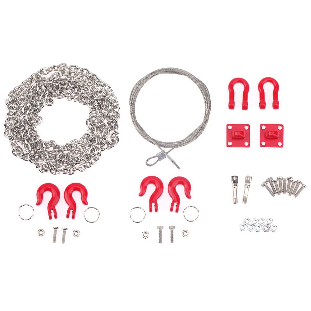 Chinatera 3pcs RC Crawler Metal Accessories Universal Tow Rope Chain for Traxxas