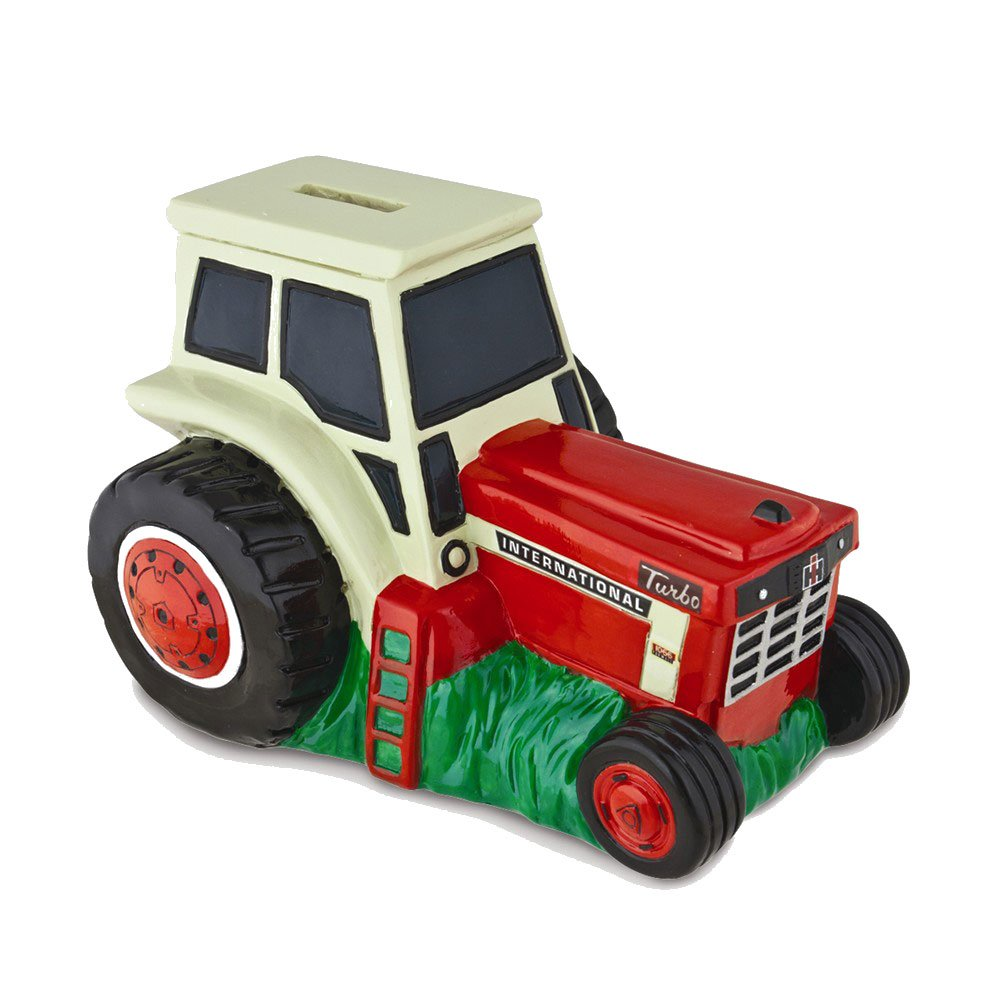 Amazon.com: Goldia Polyresin Red/White International Harvester Tractor Bank: Toys & Games