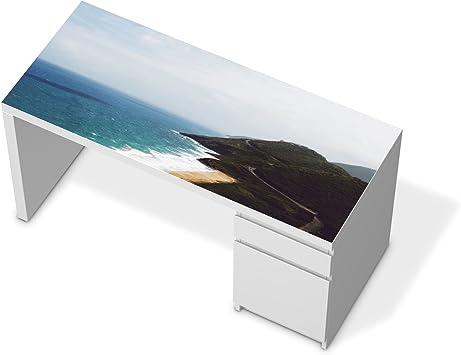 Papel de diseño de IKEA malm mesa escritorio | Klebefolie Möbel ...