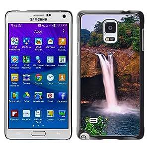 TopCaseStore / la caja del caucho duro de la cubierta de protección de la piel - Waterfall Sky - Samsung Galaxy Note 4 SM-N910