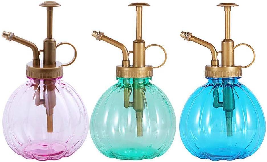 MISAZ 3 Pieces Plant Mister Flower Water Spray Bottle Can Pot 11.8oz Vintage Pumpkin Style Garden Watering Atomizer Hairdressing Pump Sprayer for Indoor Outdoor Flowers(Blue, Green, Pink)