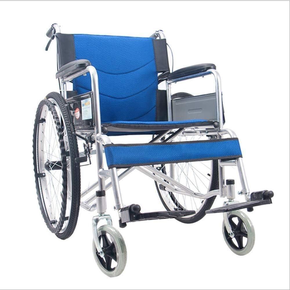 HYY-YY Discapacitados en Silla de Ruedas Silla de Ruedas Luz Transporte Silla Plegable portátil de Viaje, Ancianos y discapacitados Vespa Refuerzo Luz