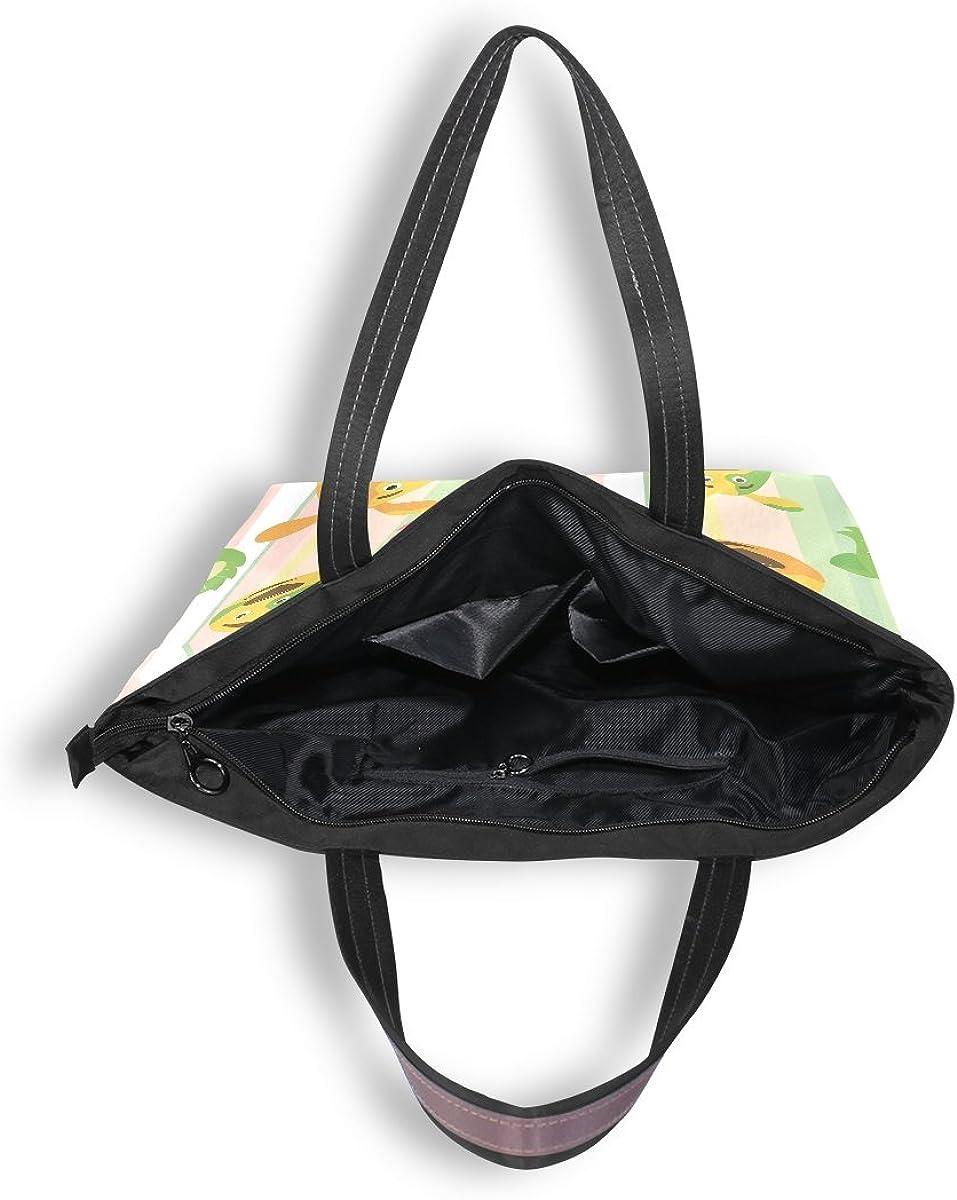 WIHVE Cartoon Cat Dog Womens Tote Bag Top Handle Satchel Handbags Shoulder Bags
