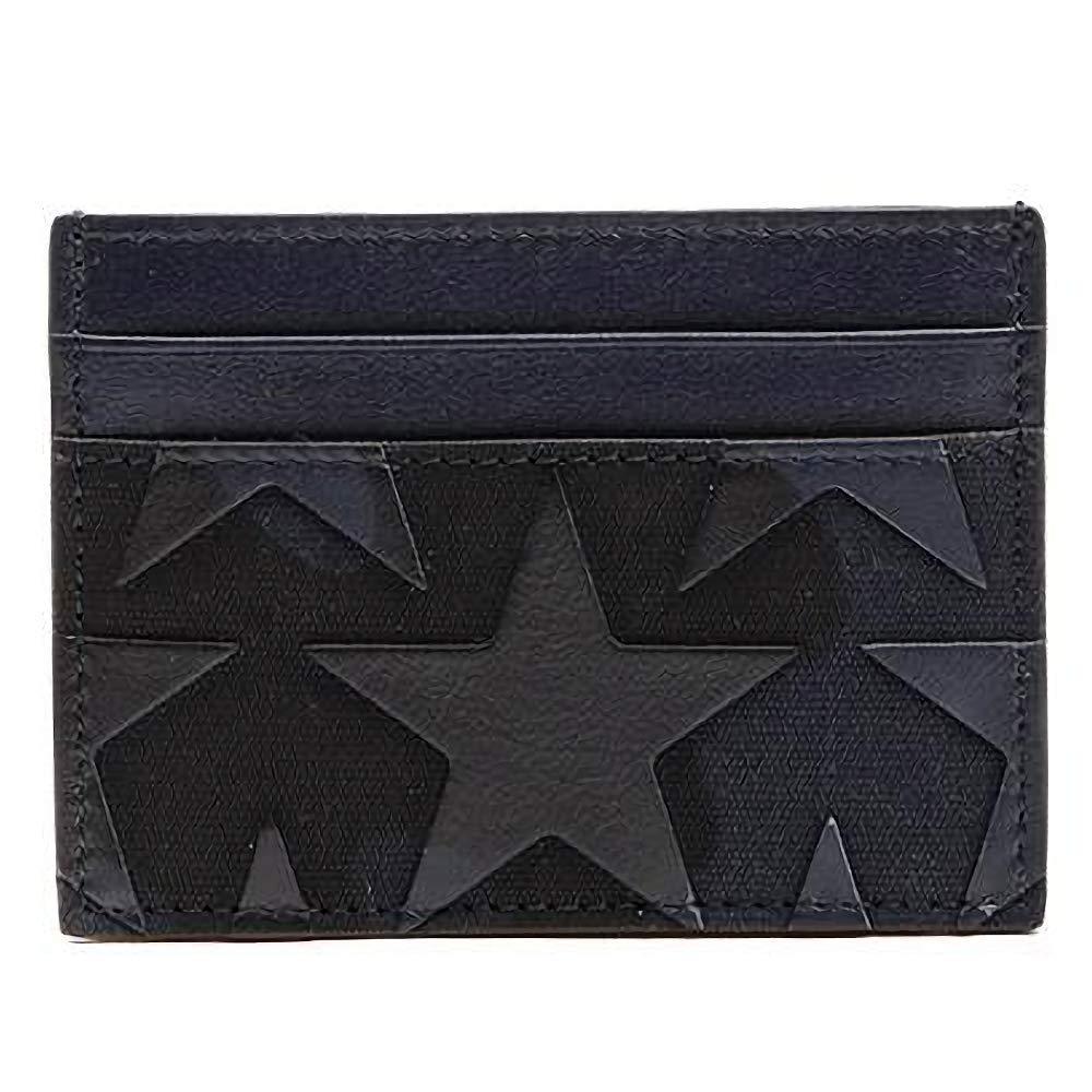 [ヴァレンティノ] [VALENTINO] メンズ スター カモフラージュ パターン レザー ファブリック カード財布 カードケース 名刺入れ ネイビー系 [並行輸入品] B07GNR3DKV  One Size