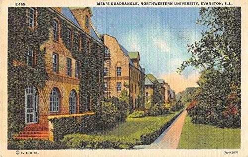 Group Of 4 Evanston Illinois Northwestern University Antique Postcards K64350