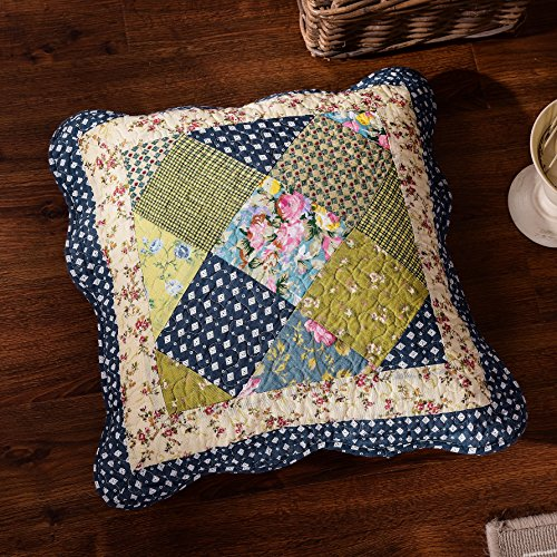 Tache Floral County Rustic Spring Decorative Accent Throw Pillow