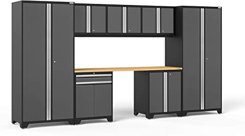 NewAge Products Pro Series Gray 8 Piece Set, Garage Cabinets, 52096