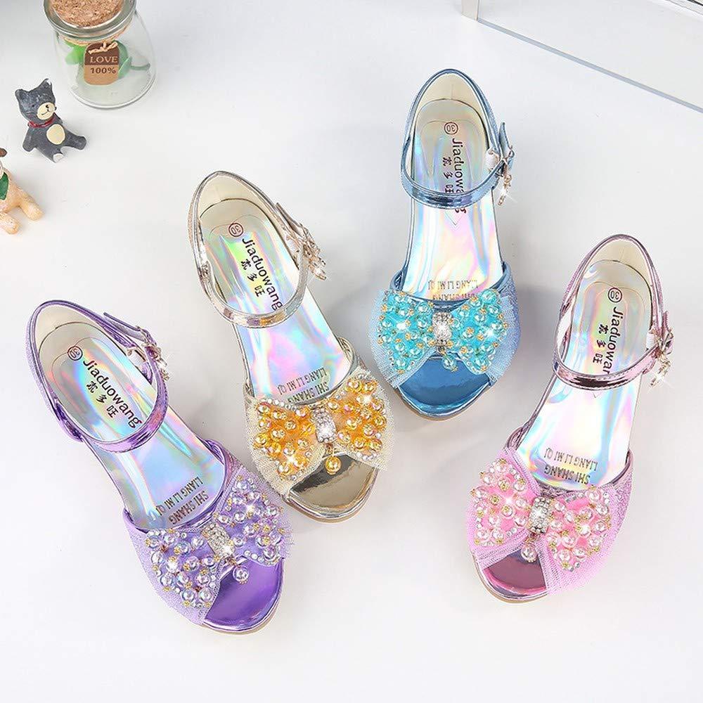 Exclusive Shoebox Kids Girls Sequin Sandals Princess Crystal High Heels Shoes