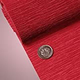 PREMIUM COLORED CREPE PAPER - Top quality Italian paper craft (Red)