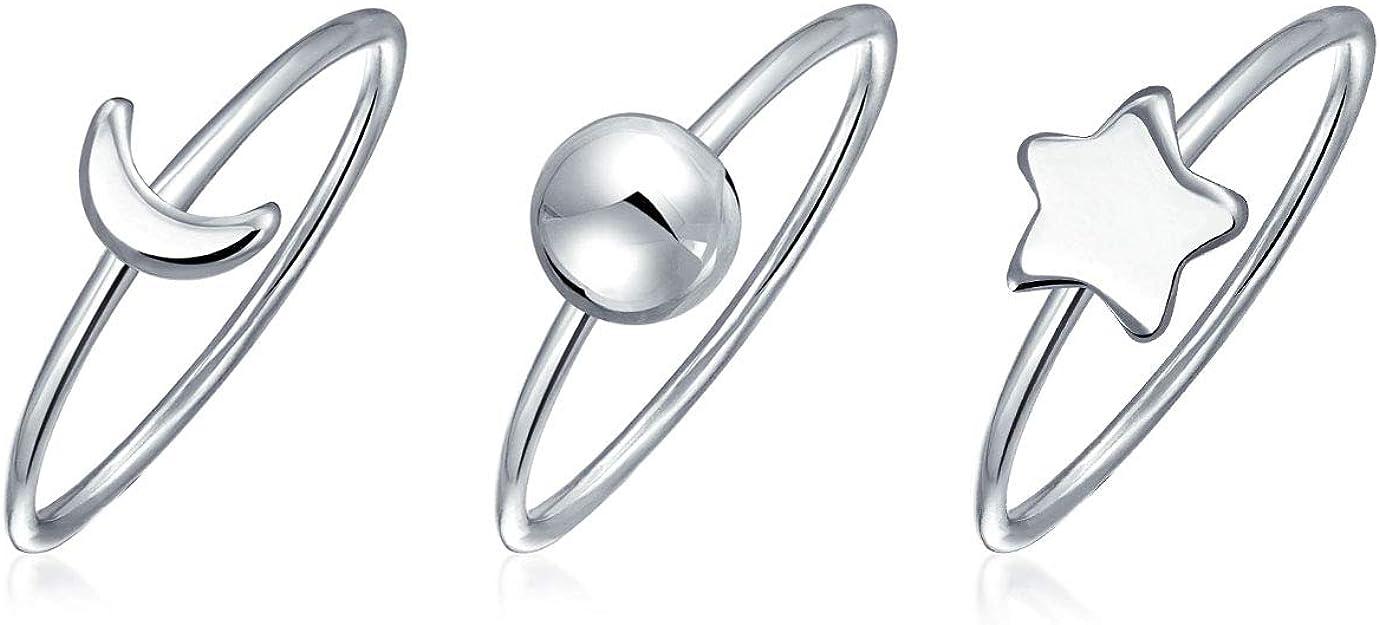 anillos estrella plata