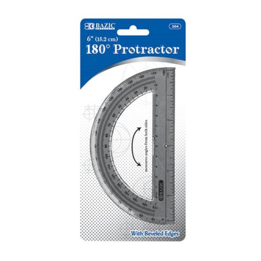 BAZIC Semicircular 6'' Protractor 288Pcs