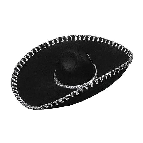 e891cd6806df7 Viste a América - 925 - sombrero mexicano - Un tamaño - Adulto - Negro