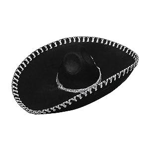 Viste a América - 925 - Sombrero Mexicano - Un tamaño - Adulto - Negro