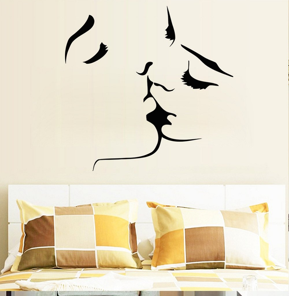 1MATCH Kiss Wall Murals for Living Room Bedroom Sofa Backdrop Tv Wall Background, Originality Stickers Gift, DIY Wall Decal Wall Decor Wall Decorations by 1MATCH (Image #6)