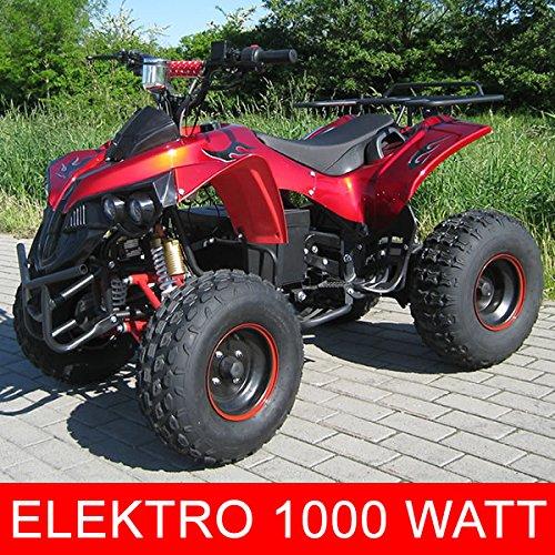 Kinder Elektro Quad S-10 1000 Watt Miniquad Metallic Rot