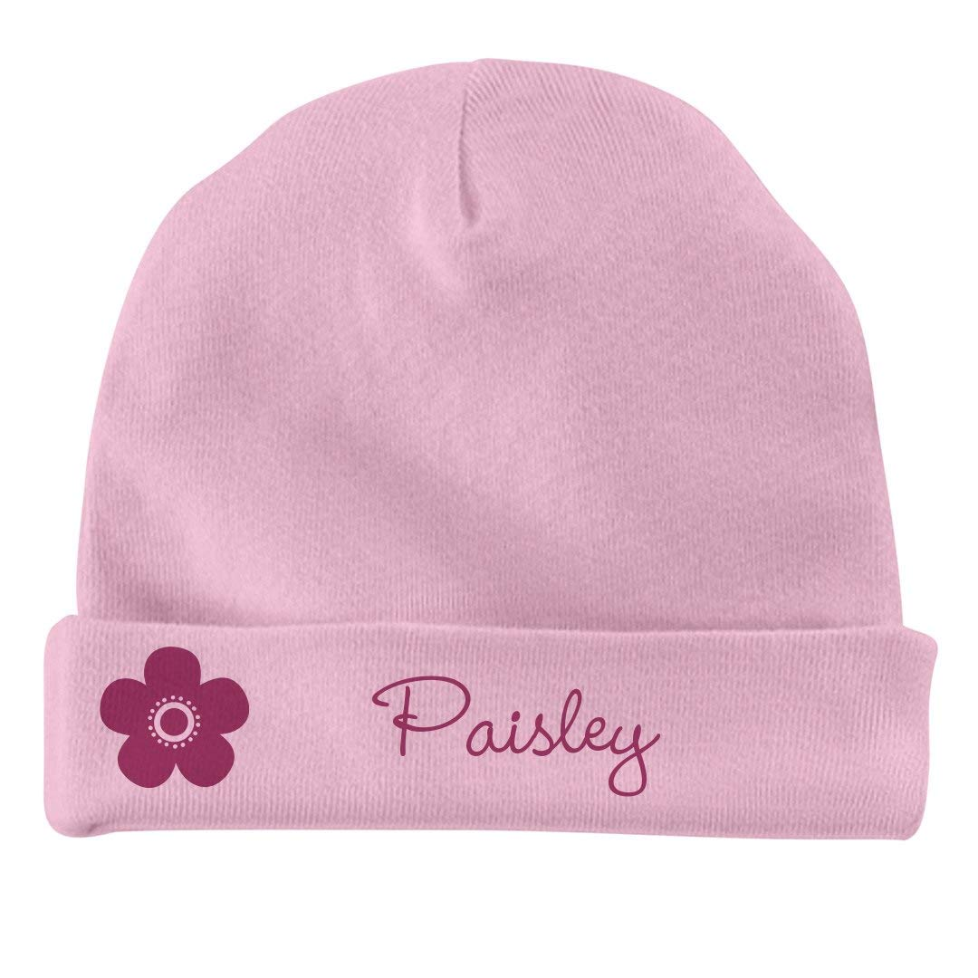 FUNNYSHIRTS.ORG Baby Girl Paisley Flower Hat Infant Baby Hat