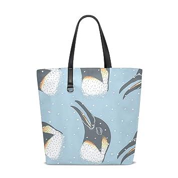 Penguins Face Tote Bag Purse Handbag Womens Gym Yoga ...