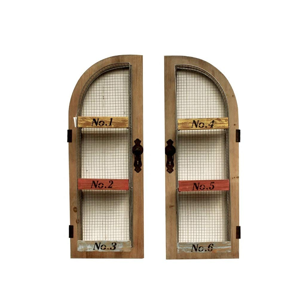 花の棚 植木鉢棚、庭の装飾的なスタンドホーム収納棚ディスプレイホルダー(木材+鉄)45 * 15 * 98センチ B07QBPSCK8