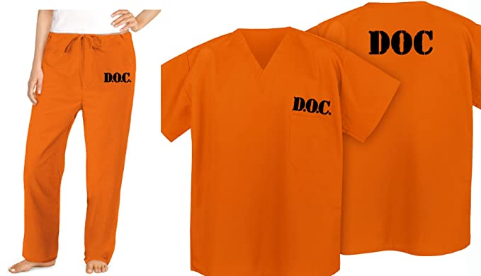 Broad Bay Prison Costume Orange DOC Convict Jail Uniform & Amazon.com: Prison Costume ORANGE DOC Convict Jail Uniform: Clothing