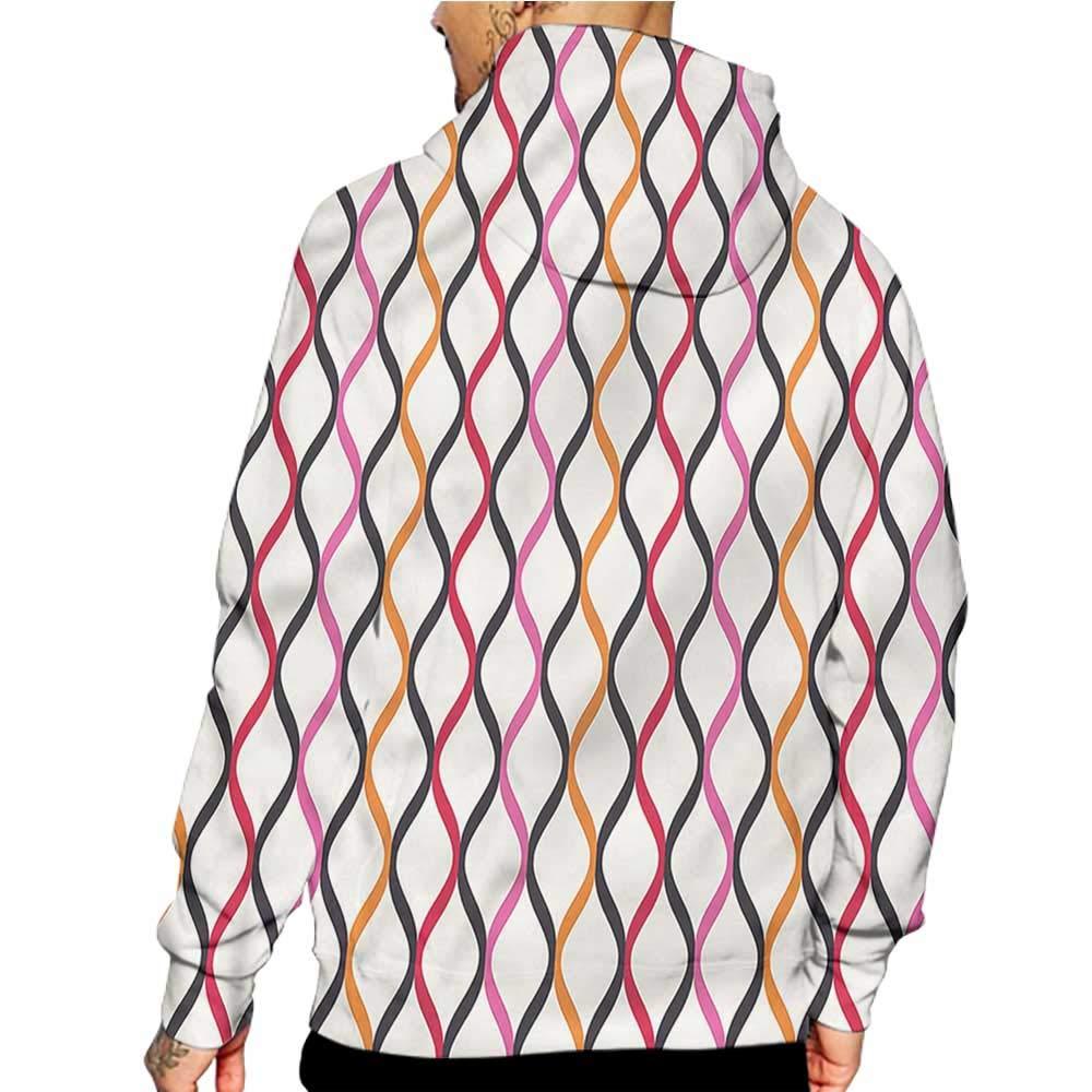Hoodies Sweatshirt Pockets Geometric,Stacked Cubes Pattern,Sweatshirts for Women