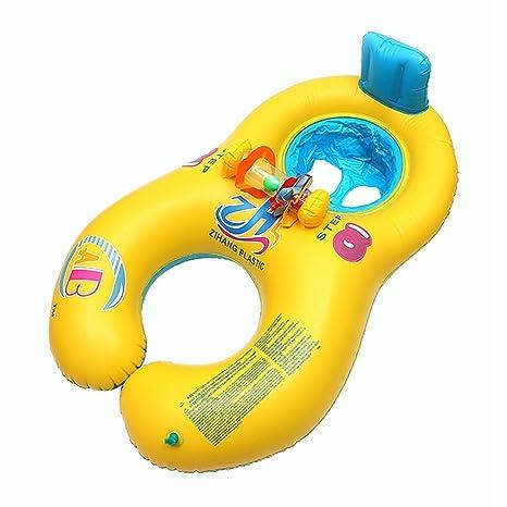 VORCOOL Flotador para Padres y Bebés Flotador para Bebés Flotador para Bebés Baby Rider (Amarillo