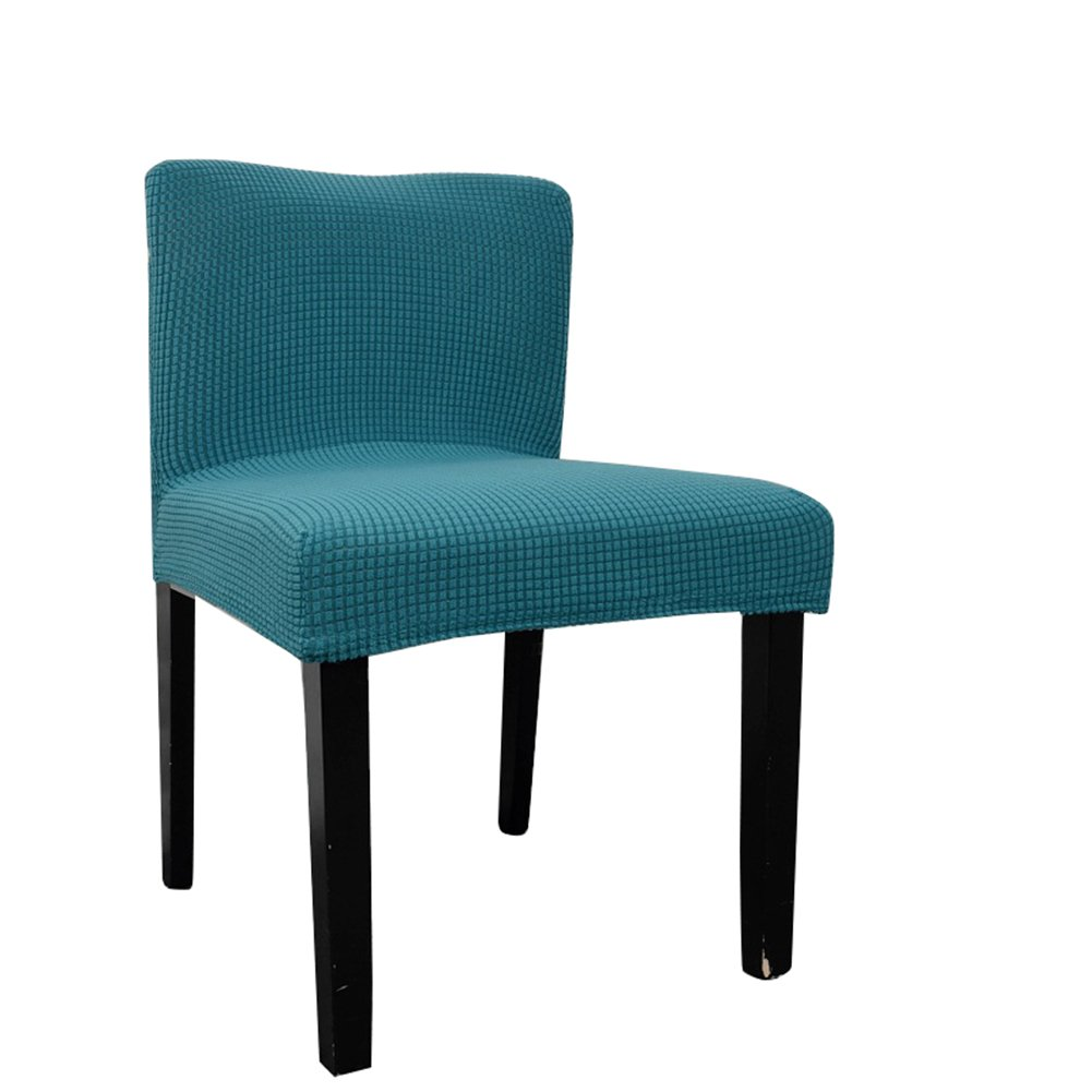 Deisy Dee Stretch Chair Cover Slipcovers for Low Short Back Chair Bar Stool Chair (black green)