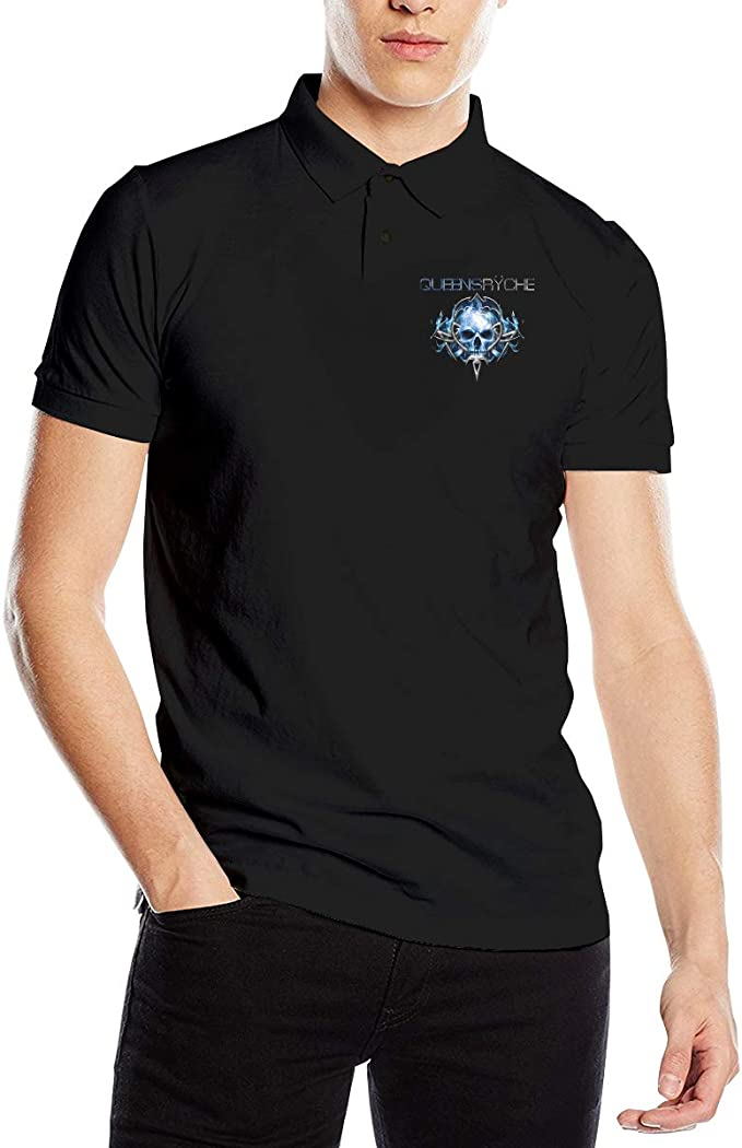 Cjlrqone Queensr/ÿche Mens Funny Polo Shirts M Black