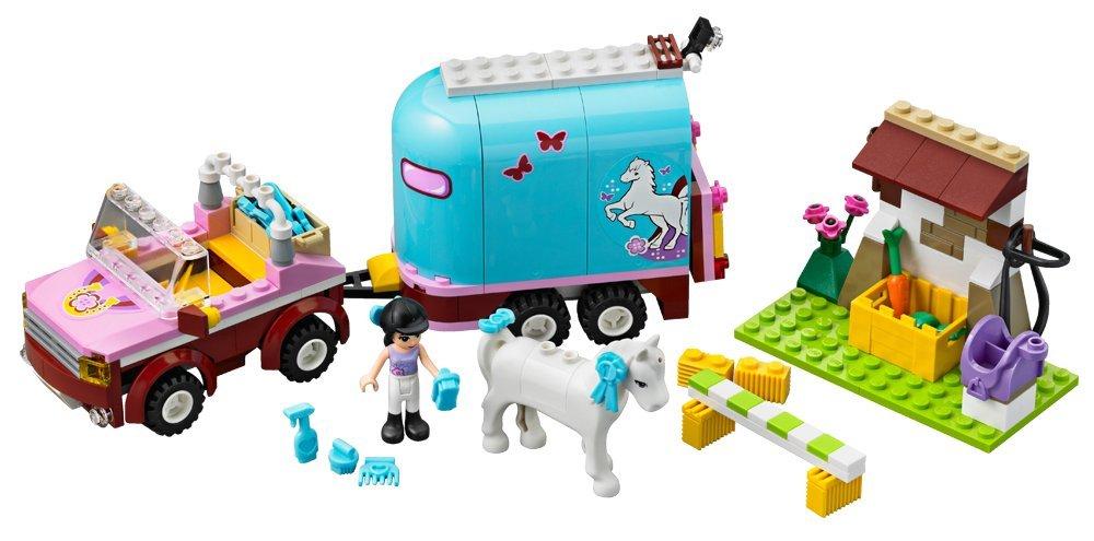 lego friends 3186 jeu de construction la remorque chevaux demma lego friends amazonfr jeux et jouets