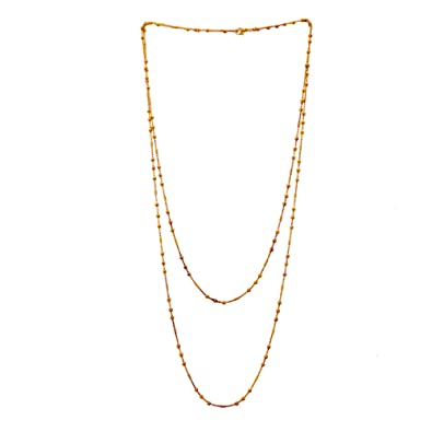 eb731be9afb60 Buy Tjori Contemporary Gold Plated Long Strand Necklace Layered ...