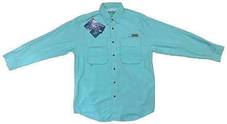 883473627 Bimini Bay Outfitters Men's Bimini Flats III Long Sleeve Shirt Aqua 3XL