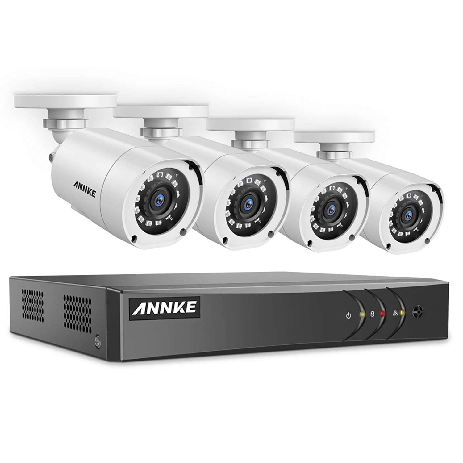 ANNKE Security Camera Systems 4CH 1080P Lite H.264 DVR and 4 1080P Outdoor CCTV Camera System, Super Night Vision, Email Alert with Snapshots, NO HDD