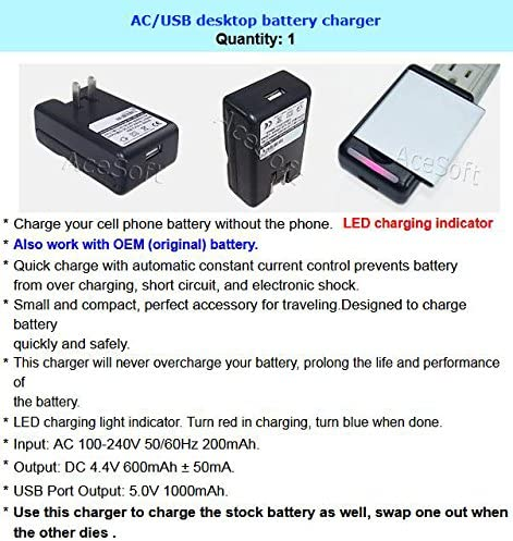 Samsung Galaxy J3 Combo Pack 3500mAh Extra Standard Li-ion Battery External Dock Wall USB Charger for Samsung Galaxy J3 SM-J320R Android Phone