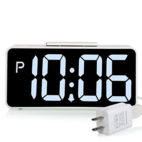 ZHPUAT 89quot Big Screen Digital Alarm Clock With Dimmer And Sound Control Function