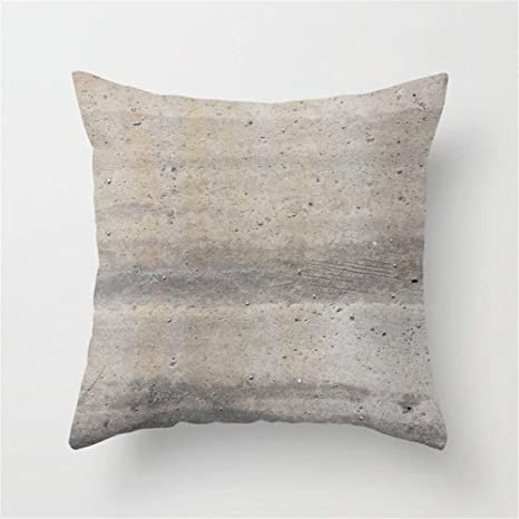 LULABE Concrete Throw Pillow Cushion Cover for Couch Sofa Or ...
