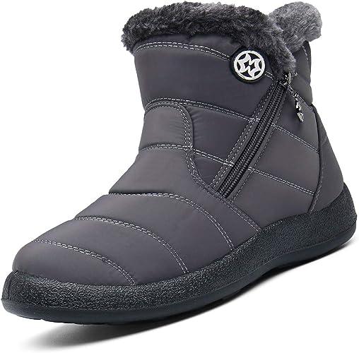 Eagsouni Winterstiefel Damen Winterschuhe Warm Plush Gefütterte Schneestiefel Winter Flach Kurzschaft Boots Outdoor Wasserdicht rutschfest Stiefel