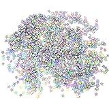 Honbay 60g 2.1 Ounce 6mm Star Confetti Glitter Star Sequin for Nail Art, Wedding, Birthday, Party, Festival Decorations