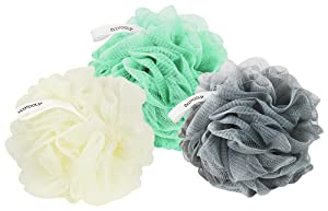EcoTools Delicate Bath Sponge, Green, White, and Gray (Pack of 6) Rich Lather, Gentle Cleansing, and Exfoliation for Smoother, Softer Skin