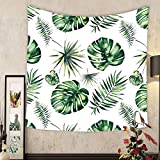 more Smile A Custom tapestry bright beautiful green herbal tropical wonderful hawaii floral summer pattern of a tropic palms