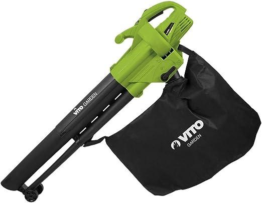 Aspirador soplador hojas 2400 W bolsa 45L correa – mango anti ...