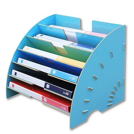 Archivadores de fichas Estante de archivos estantería Caja de almacenamiento de escritorio Sector de soporte de
