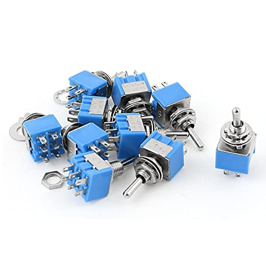 3 opinioni per Sourcingmap® 10PCS AC 125 V 6 A on-off-on Dpdt mini interruttore a levetta blu