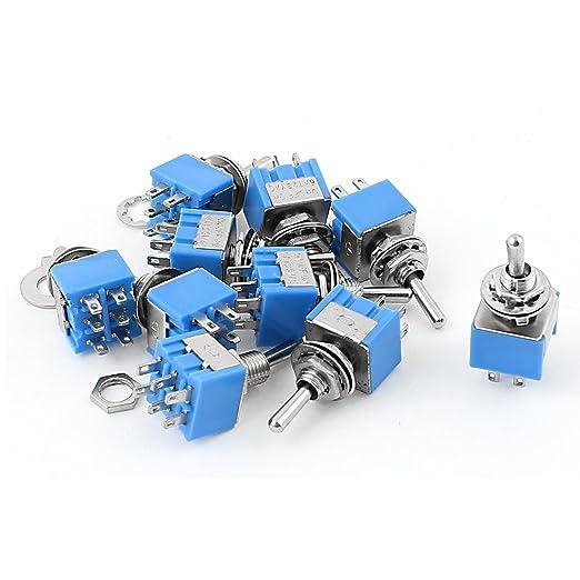 3 opinioni per Sourcingmap® 10PCS AC 125V 6A on-off-on Dpdt mini interruttore a levetta blu