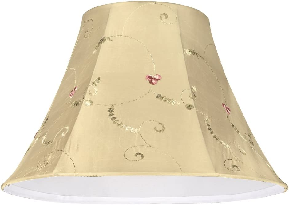 Aspen Creative 58001 Transitional Bell Shape UNO Construction Lamp Shade in Gold, 13 Wide 6 x 13 x 9