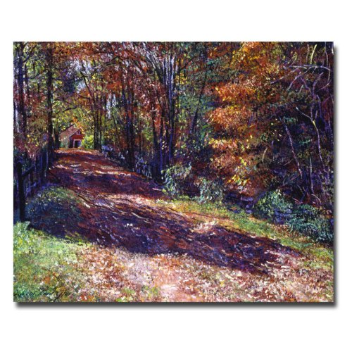 UPC 886511100084, Trademark Fine Art Old Farmhouse Road by David Lloyd Glover Canvas Wall Art, 26x32-Inch